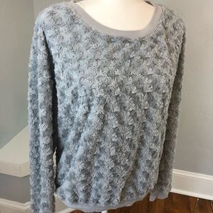 Eyelash Couture Super Soft Gray Sweatshirt Top XL